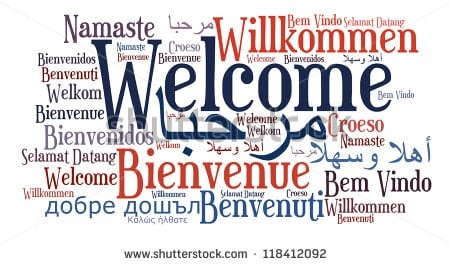 Image result for how to say welcome in english french and spanish