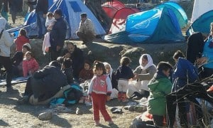 Refugee camp, Lesvos